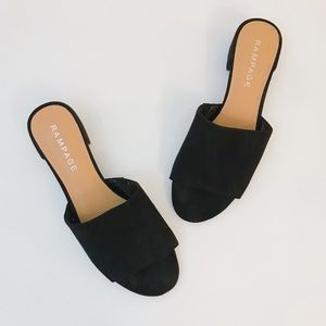 Rampage Shoes - Rampage Sayda Peep Toe Slip On Mules